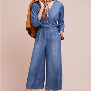 Anthropologie Cloth & Stone Chambray Jumpsuit XS